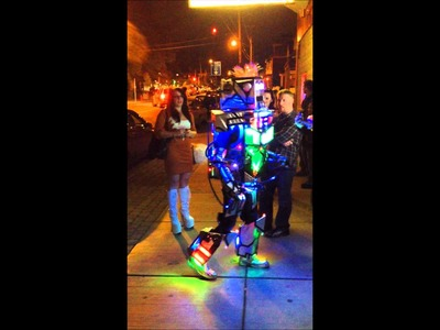 Crazy homemade robot Halloween costume