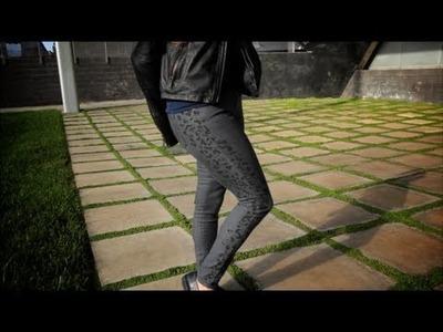 DIY Fashion, Animal Print Jeans, Fab Flash