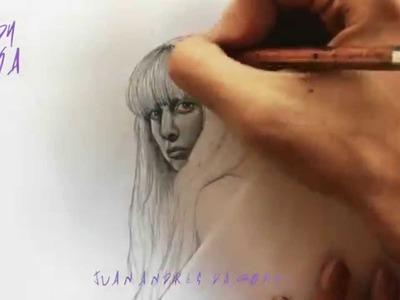 Drawing Lady Gaga By Juan Andres (ARTPOP)