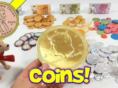 Giant Chocolate Golden Coin and Complete Candy Collection!