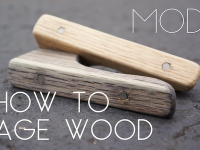 How to Age Wood in Minutes