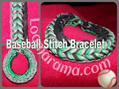 How to make a Monster Tail Bracelet called The Baseball Stitch