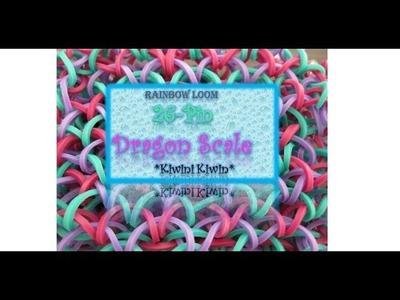 How To Make A Rainbow Loom 26-Pin Dragon Scale bracelet