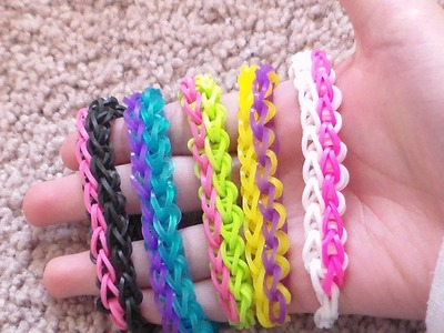 How to make Rainbow Loom Bracelets: Double.Pulsera De Gomitas Doble!