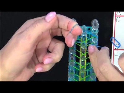 Rainbow Loom: Double Rearward Rhombus Bracelet Tutorial