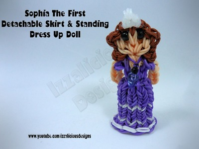 Rainbow Loom Princess Sofia Charm.Action Figure - Detachable Skirt.Standing Dress Up Doll - Gomitas