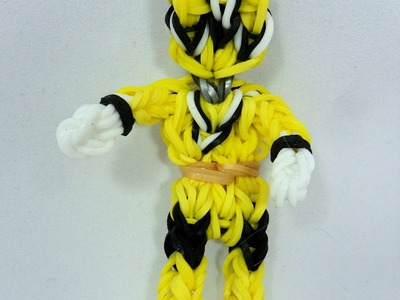 Rainbow Loom Yellow Power Ranger Action Figure.Charm Tutorial