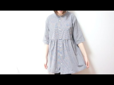 Sewing + Refashion Men's Shirt to smock. babydoll Dress