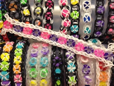 Tic Tac Donut Bracelet on Rainbow Loom (& variations)