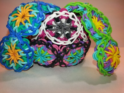 *Updated* One Loom Kaleidoscope Bracelet Tutorial by feelinspiffy (Rainbow Loom)