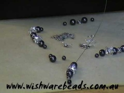 Black Pearl Necklace w.Swarovski @Wishware Beading Classes