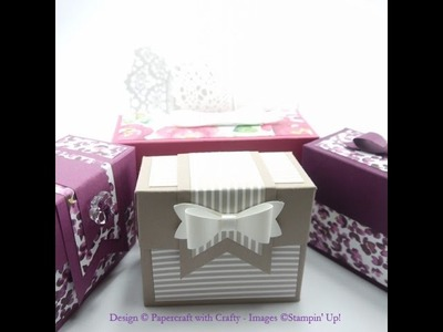 Boxes made with the Gift Bag Punch Board