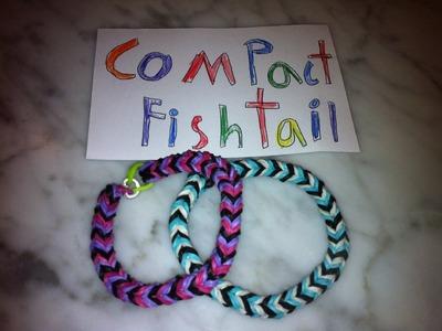 Compact Fishtail Rainbow Loom Bracelet