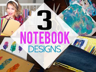 DIY 3 Creative NoteBook Designs for School | ANNEORSHINE