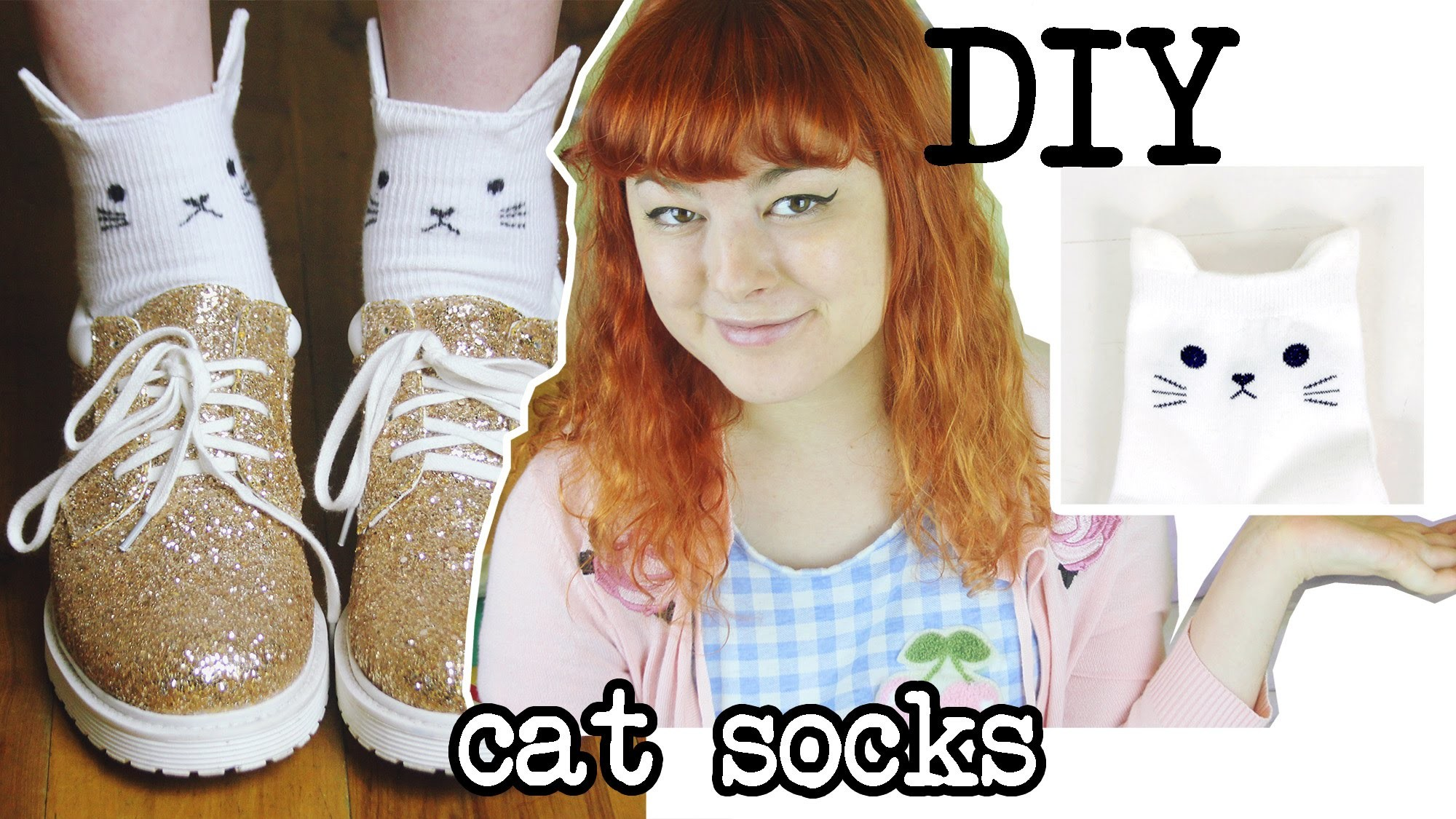 DIY Cat Socks | Make, Thrift, Buy #20