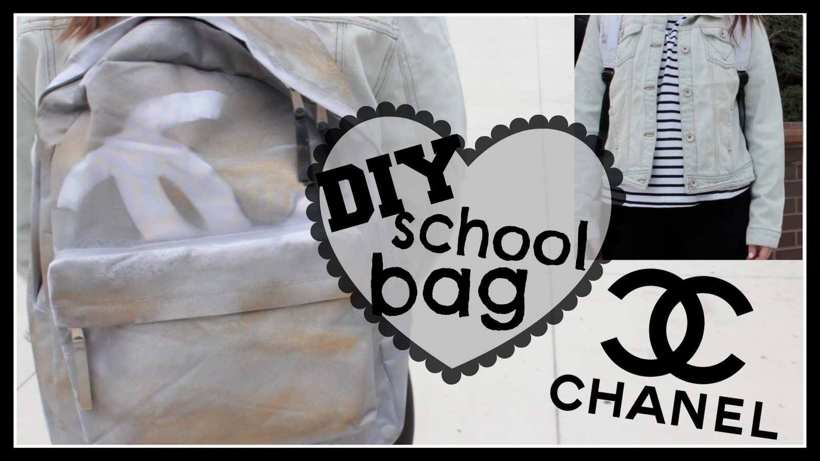 DIY Chanel School Bag + How To Style | Kenzie Elizabeth