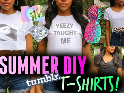 DIY Clothes for Summer! Easy No Sew Tumblr T-shirts for Teenagers!