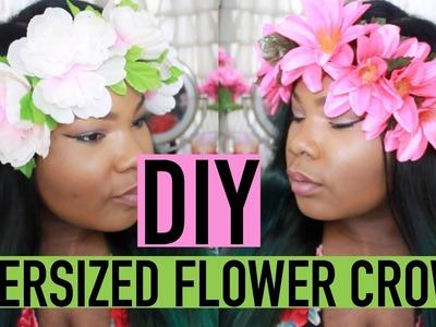 DIY OVERSIZED FLOWER CROWN (UNDER $2)!!!!! | Mary Elizabeth