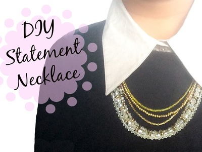DIY Statement Necklace | CuteNailPolishArt