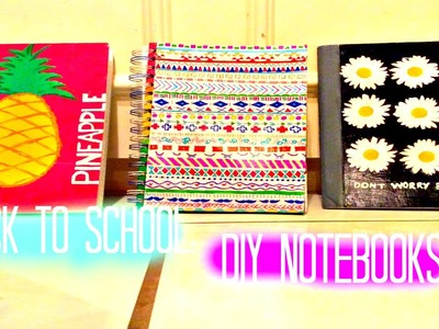 DIY tumblr inspired Notebooks | Back to School