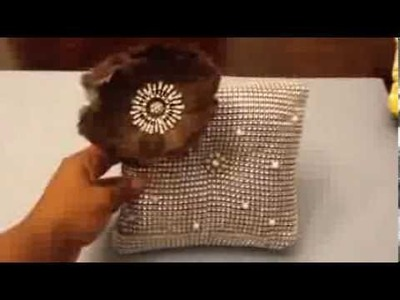 How to make a rhinestone pillow