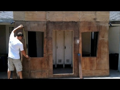 Making An Old Western Ghost Town Undertaker Facade: Part 1