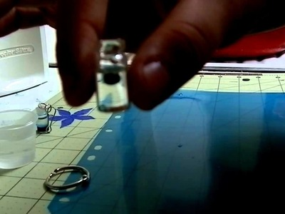 Mini glass bottle lava charm tutorial
