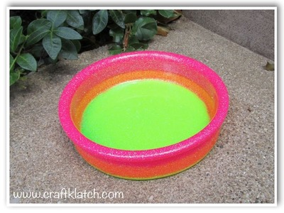 Neon Glitter Wine Coaster DIY