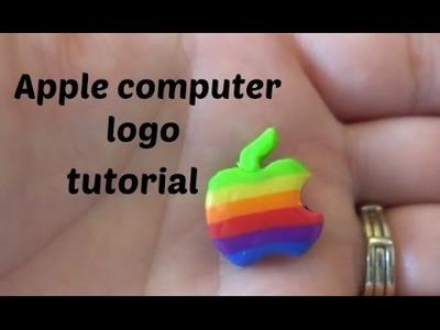 Polymer Clay Apple Logo Charm tutorial
