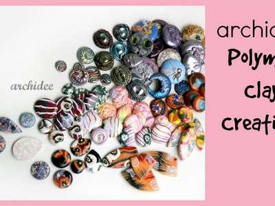 Polymer Clay Cabochons Update | New Millefiori Canes | Glitter | Striped | Eyes | Faux Opal