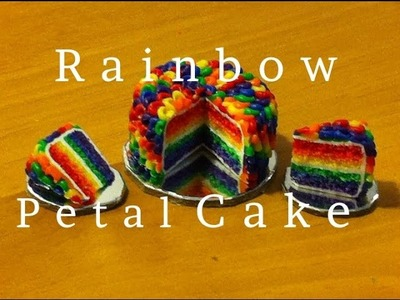 Polymer Clay Rainbow Petal Cake Collab with Glossy Apple Design (Maive Ferrando)
