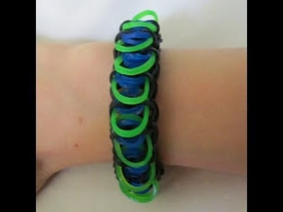 Rainbow Loom- How to Make an Alienscale Bracelet (Original Pattern)
