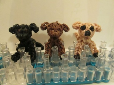 Rainbow Loom Labrador Retriever Dog or Puppy. Black, Chocolate, Yellow Lab. 3-D.
