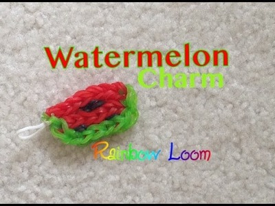 Rainbow Loom Watermelon Charm EASY