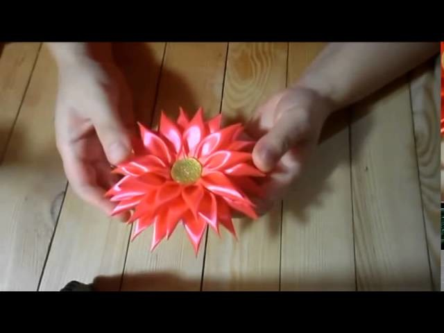 Red Chrysanthemum kanzashi hair band   Red Chrysanthemum hair band Kanzashi