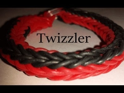 Twizzler Rainbowloom Bracelet on a  Fork ADVANCED