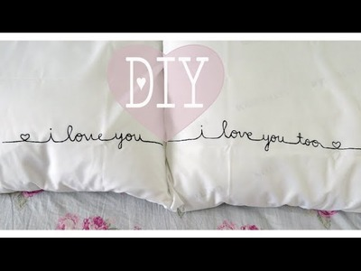"Valentines 2014 Series: DIY Couples ""I Love You"" Pillow Cases"