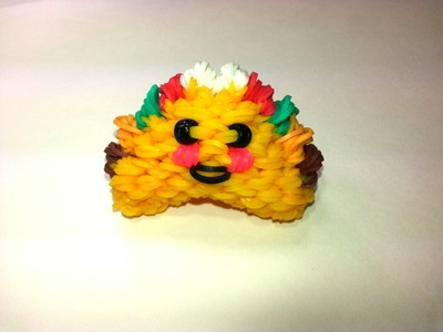 3-D Happy Taco Tutorial by feelinspiffy (Rainbow Loom)