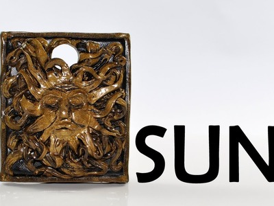 Antique sun charm - polymer clay TUTORIAL