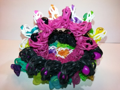 Beaded Step Up Bracelet Tutorial by feelinspiffy (Rainbow Loom)