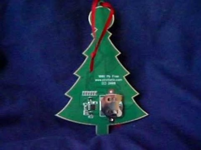 Christmas Tree LED Ornament on PCB (Printed Circuit Board)