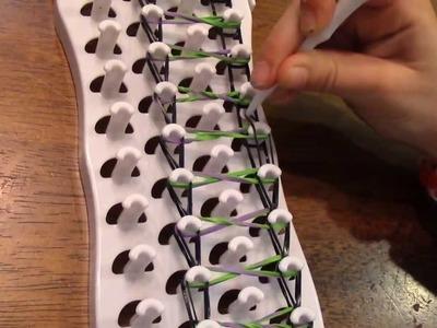 CRAZY 8 TAFFY TWIST Bracelet with Fun Loom
