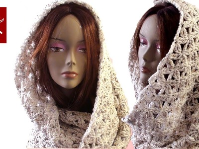 Crochet Infinity Scarf Flower Blossom Stitch Part 1