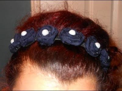 DIY: Fabric Rosette Headband ♡ Theeasydiy #FashionDIY
