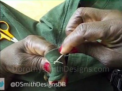 DIY How to Repair Replace Fix a Button on a Shirt Jacket Coat Dress