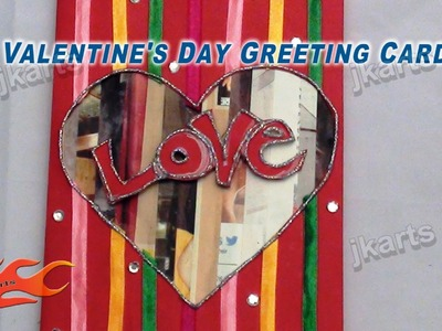 DIY  Valentine's Day 3D Greeting Card with ribbons - Style 5 - JK Arts 138
