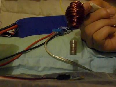 Electromagnetic levitation DIY (22V * 18A burning the coil !) arduino