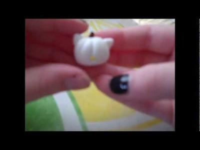 Hello Kitty Pumpkin Polymer Clay Charm Tutorial :) (HALLOWEEN SPECIAL)