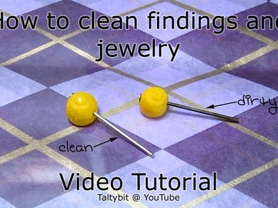 How to Clean Polymer Clay Jewelry Findings that are dark tarnished and ulgy