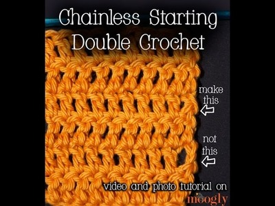 How to Crochet: Chainless Starting Double Crochet (Left Handed)